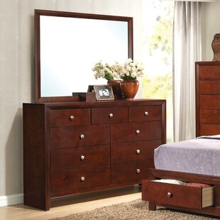 Lamonica 9 Drawer Dresser with Mirror