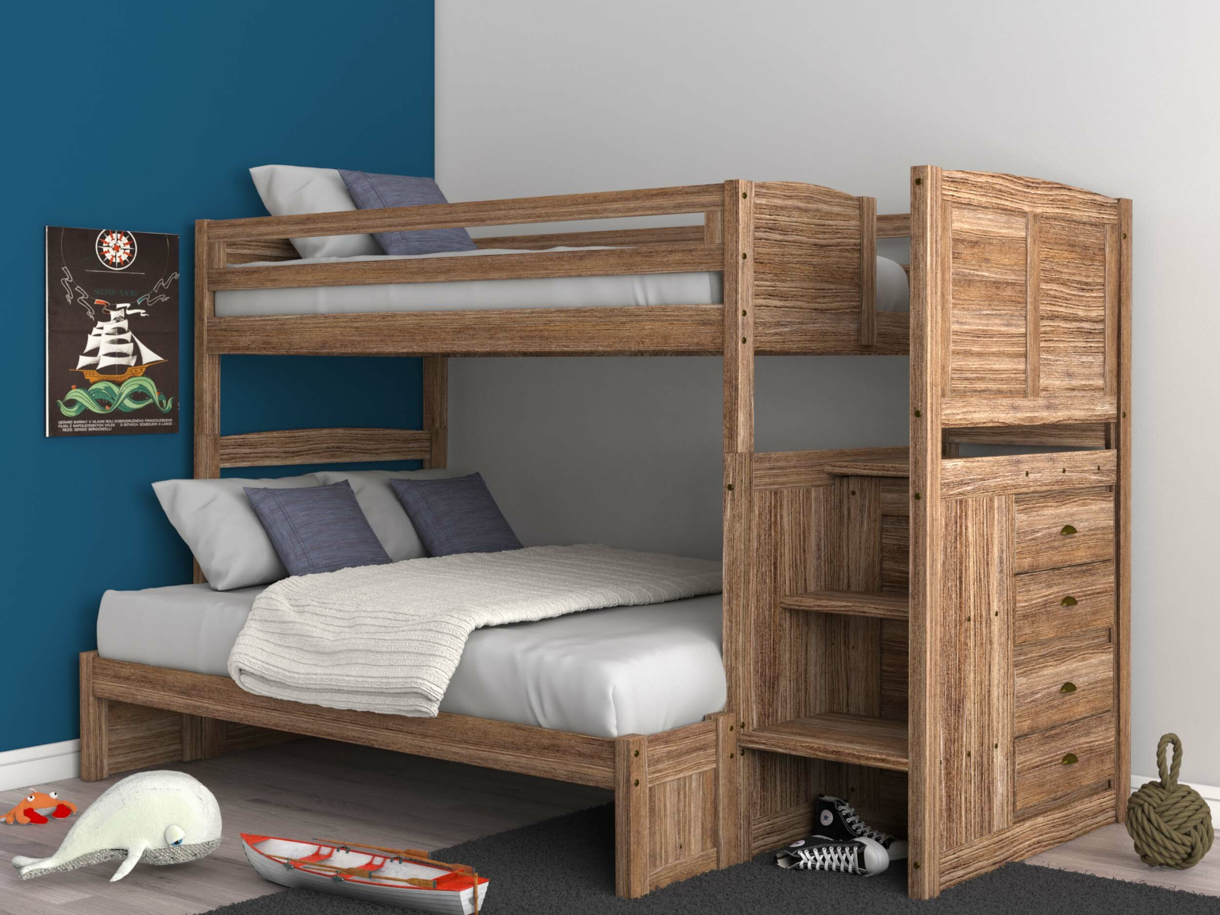 Booker Twin Over Full Bunk Bed With 4 Drawers Reviews