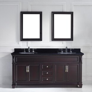 Kace 72 Double Bathroom Vanity Set with Mirrors by Darby Home Co
