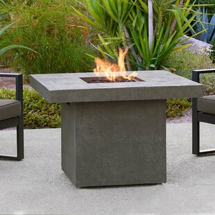 Ventura Square Concrete Propane/Natural Gas Fire Pit Table