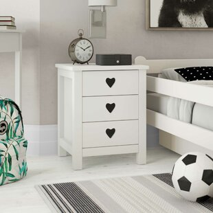 Andrews 3 Drawer Bedside Table By Harriet Bee