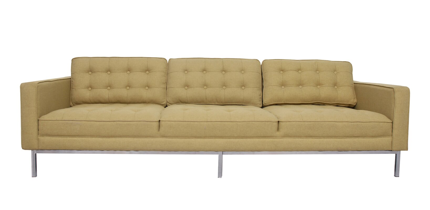 Draper Linen Modern Contemporary Button Tufted Sofa