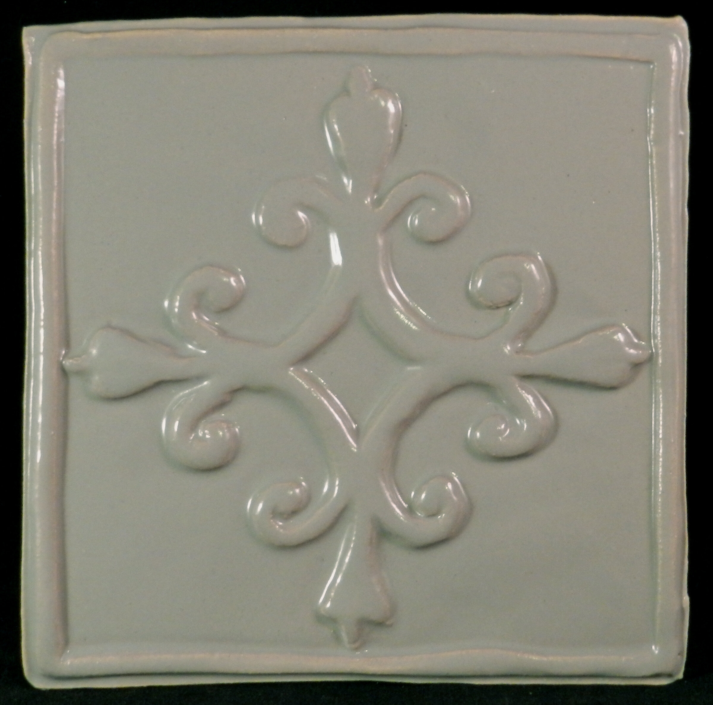 Clay Decor French Quarter X Ceramic Decorative Accent Tile In - 6x6 accent tiles