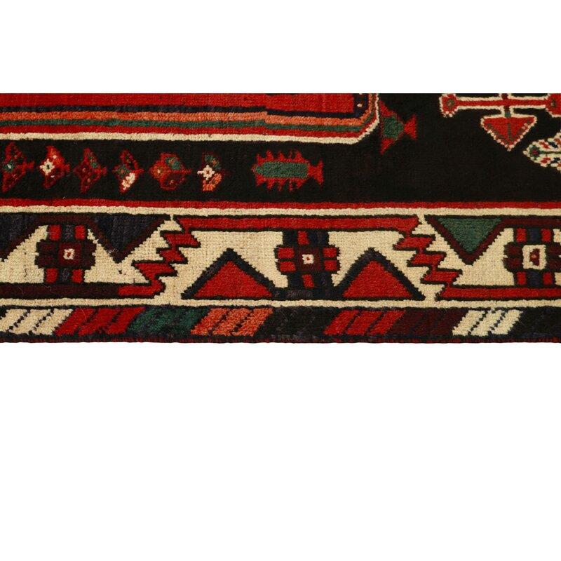 Bloomsbury Market Cambon Hand Knotted Wool Dark Red Rug Wayfair Co Uk