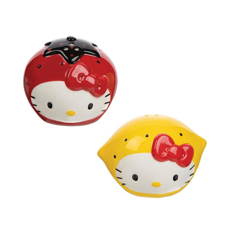 Vandor Llc Hello Kitty I Love Strawberries And Lemons Salt And Pepper Shaker Set Wayfair