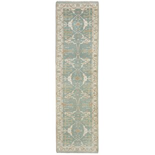 Savings One-of-a-Kind Doggett Hand-Knotted Runner 2'8 x 9'11 Wool Green/Beige Area Rug By Isabelline