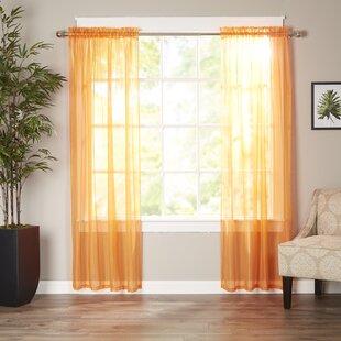 Sheer Peach Curtains Wayfair