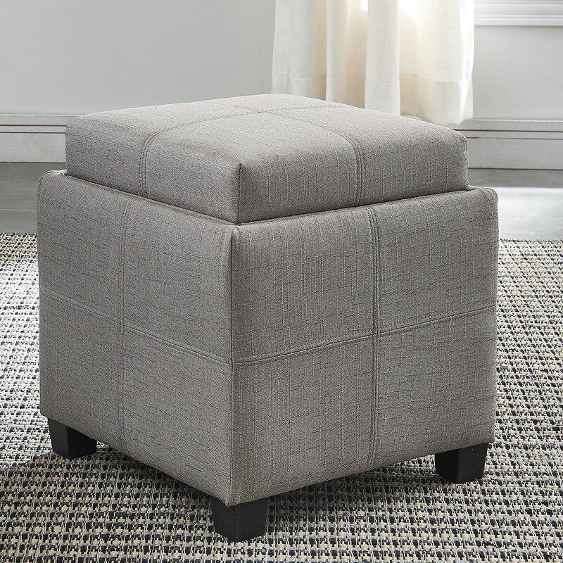 Pimentel Fabric Storage Cube Reversible Tray Lid Ottoman Reviews