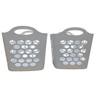 Flex Laundry Basket (Set of 2) by Rebrilliant