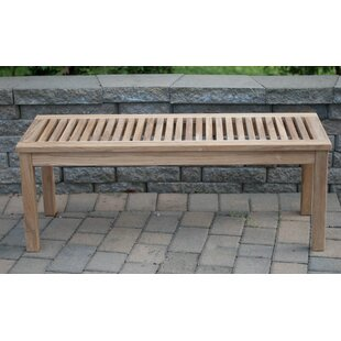 Abner Backless Solid Teak Picnic Bench by Foundry Select