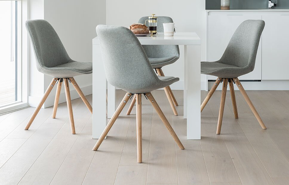 Bitsie Upholstered Square Dining Set With 4 Chairs