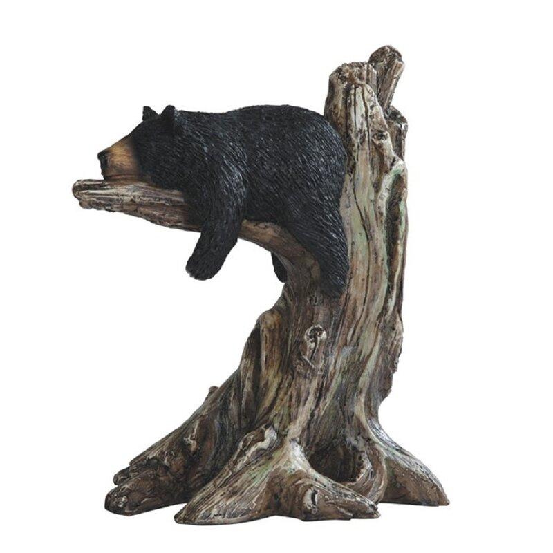 Loon Peak Trogdon Bear Sleeping In Tree Figurine Wayfair
