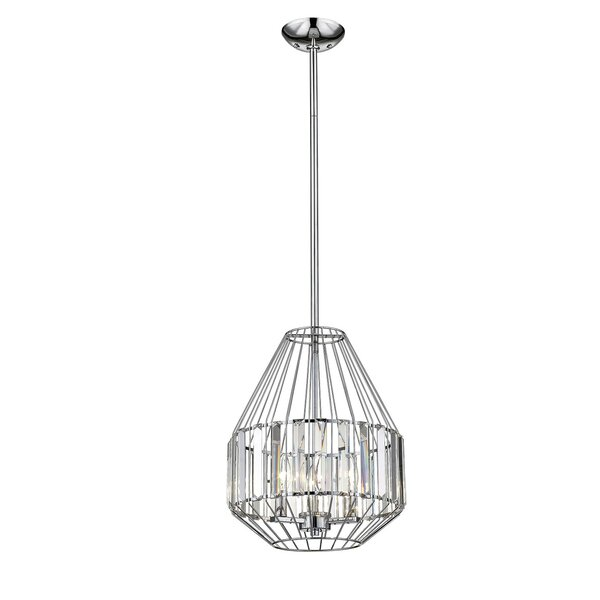 Wrought Studio Janie 3 Light Single Geometric Pendant