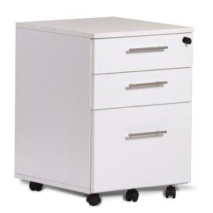 Latitude Run Buragate 3 Drawer Mobile File Cabinet