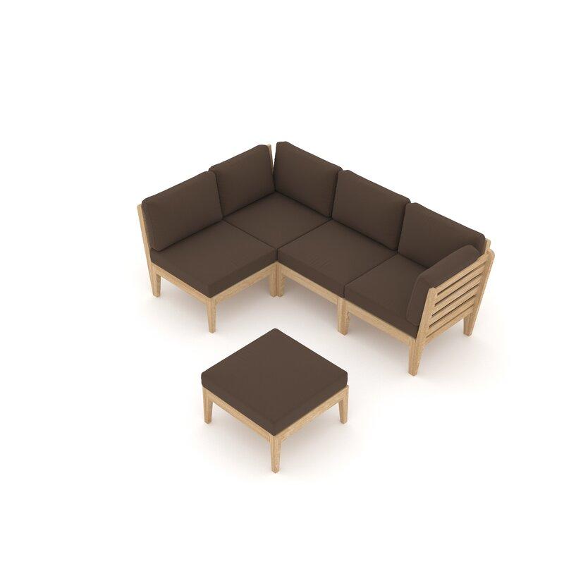 Sol 72 Outdoor Tatti Garden Corner Sofa with Cushions ...