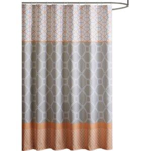 orange and gray shower curtain. Vernetta Microfiber Shower Curtain  Orange Curtains You ll Love Wayfair