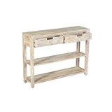 Leandra 40 Solid Wood Console Table by Loon Peak®