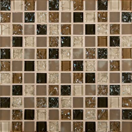 Msi Pacific Dunes Mounted Blend Gl Mosaic Tile In Brown Reviews