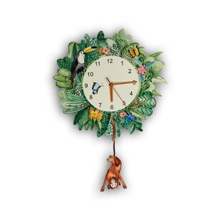 Delightful Jungle Mania Wall Clock Photo Gallery