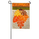 Fall Leaves 2-Sided Polyester 18 x 13 in. Garden Flag