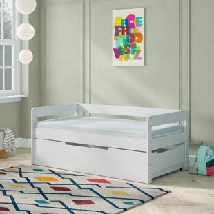 Adingdon Twin Platform Bed with Mattress and Trundle and Drawers by Mack amp Milo