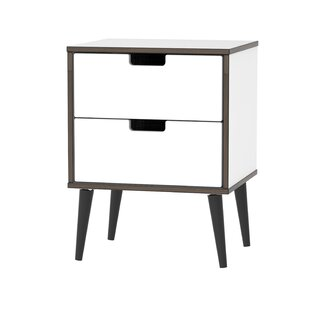 Check Price Fairbury 2 Drawer Bedside Table