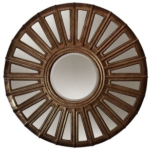 World Menagerie Potter Round Convex Metal Wall Mirror