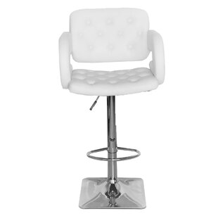 Ranae Adjustable Height Swivel Bar Stool by Orren Ellis Find