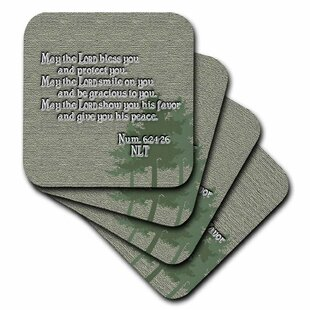 Number 3 cst/_3168/_3 3dRose Numbers set of 4 Ceramic Tile Coasters