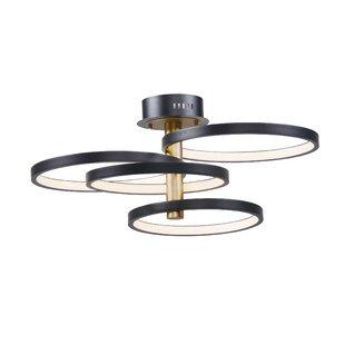 Laflamme 4-Light LED Semi Flush Mount by Everly Quinn