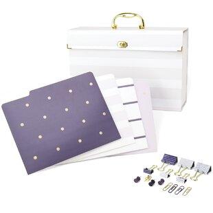 U Brands LLC File Organizer Kit Purple Fashion