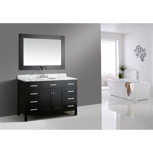 London Stanmark 54 Single Bathroom Vanity Set with Mirror by dCOR design