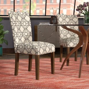 Second Avenue Parsons Lattice Upholstered Dining Chair (Set of 2)