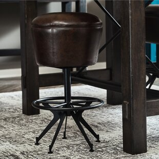Demetrius 30 Swivel Bar Stool by 17 Stories Great price