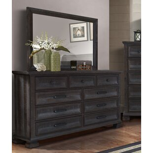 Ridout 9 Drawer Dresser with Mirror