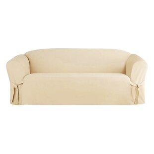 Solid Box Cushion Sofa Slipcover by Alcott Hill