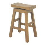 Alfreda Swivel Solid Wood 25.5 Counter Stool by Highland Dunes