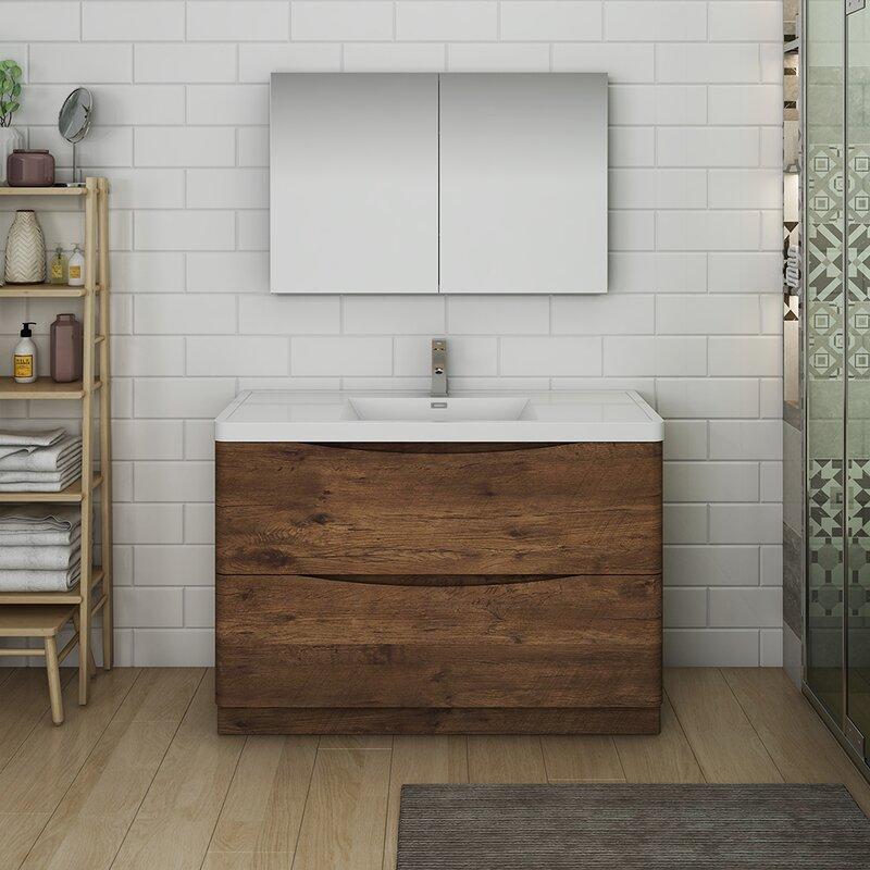 "Fresca Senza Tuscany 47"" Single Bathroom Vanity Set with ..."