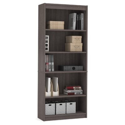 Alves Standard Bookcase Bookcase Color: Bark Gray by Mercury Row
