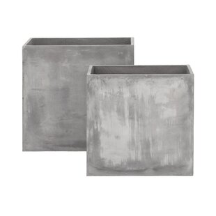 Cole & Grey 2-Piece FiberClay Planter Box Set