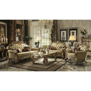 Great deal Fonzo 3 Pieces Living Room Set by Astoria Grand Reviews (2019) & Buyer's Guide