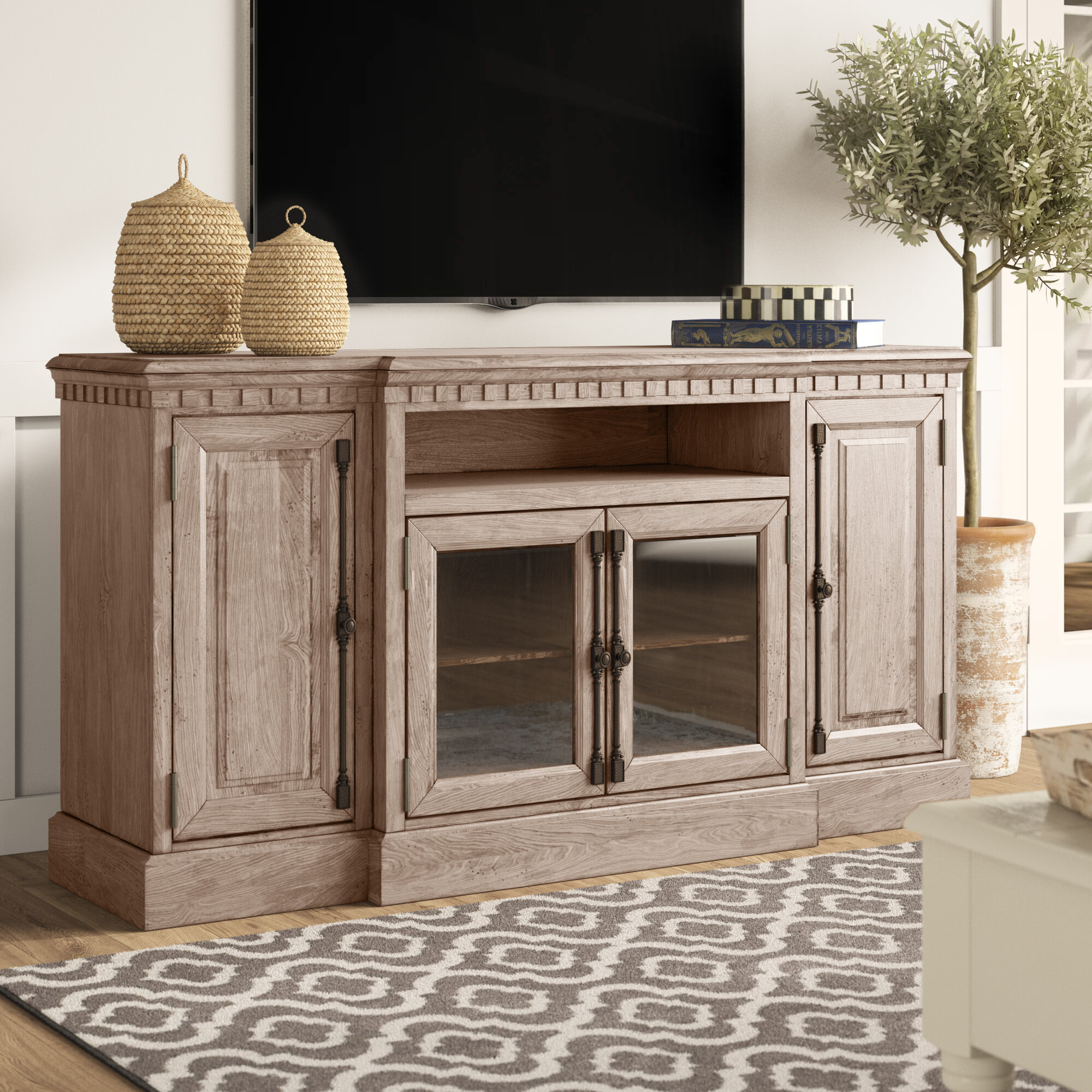 Farmhouse Rustic 70 Inch And Larger Tv Stands Birch Lane