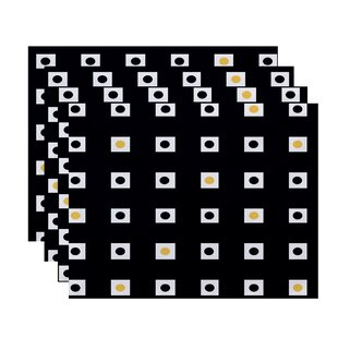Hip to be Square Geometric Placemat (Set of 4) by e design