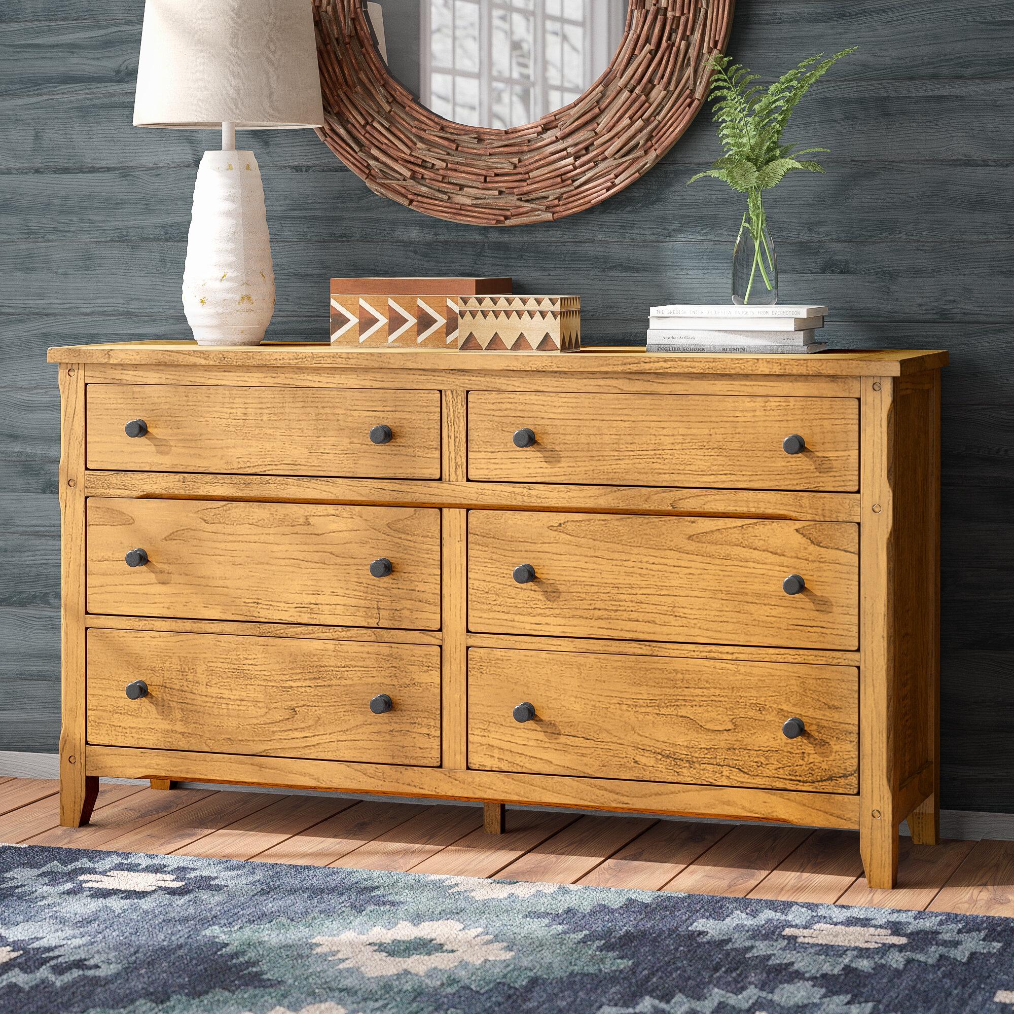 Loon Peak Fresno 6 Drawer Double Dresser Reviews Wayfair