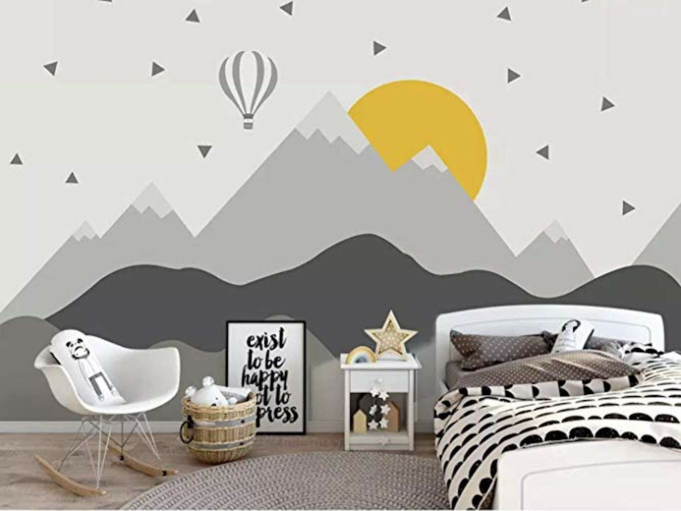 Gk Wall Design Hot Air Balloon Kids Mountain Textile Wallpaper Wayfair