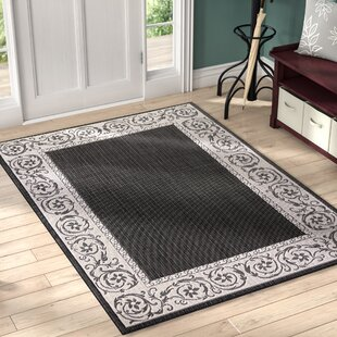 Inexpensive Annapolis Black Indoor/Outdoor Area Rug ByCharlton Home