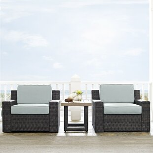 Linwood 3 Piece Conversation Set with Cushions by Beachcrest Home