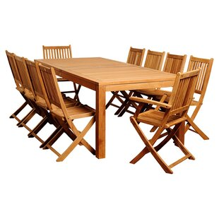 International Home Miami 11-Piece Amazonia Teak Dining Set