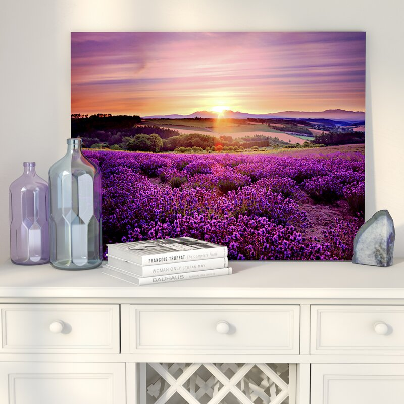 Lavender Sunset Photo Print on Canvas