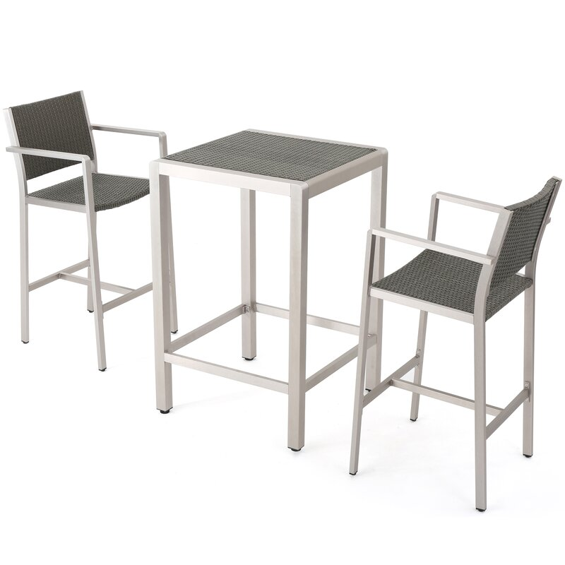 Durbin 3 Piece Bar Height Dining Set Amp Reviews Allmodern